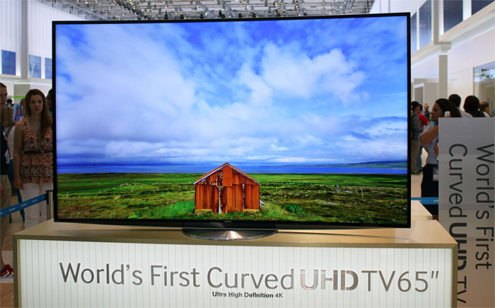 Samsungs curved LCD TV
