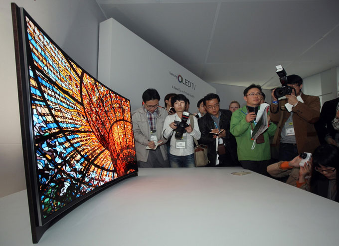 Curved OLED-TV from Samsung