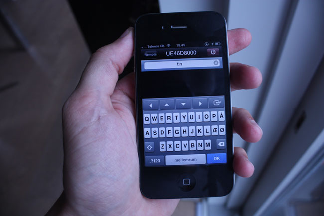 Samsung�s iPhone App has a keyboard for searching through YouTube and Netflix