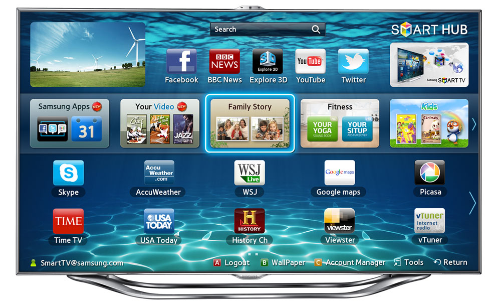 samsung 2012 smart tvs w voice gesture control flatpanelshd. Black Bedroom Furniture Sets. Home Design Ideas