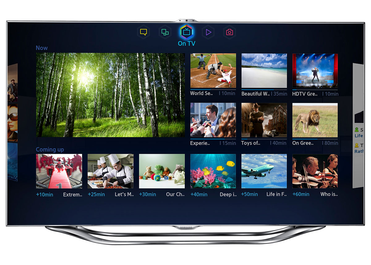 sneak peek at Samsung's 2013 Smart TV platform with a new TV guide