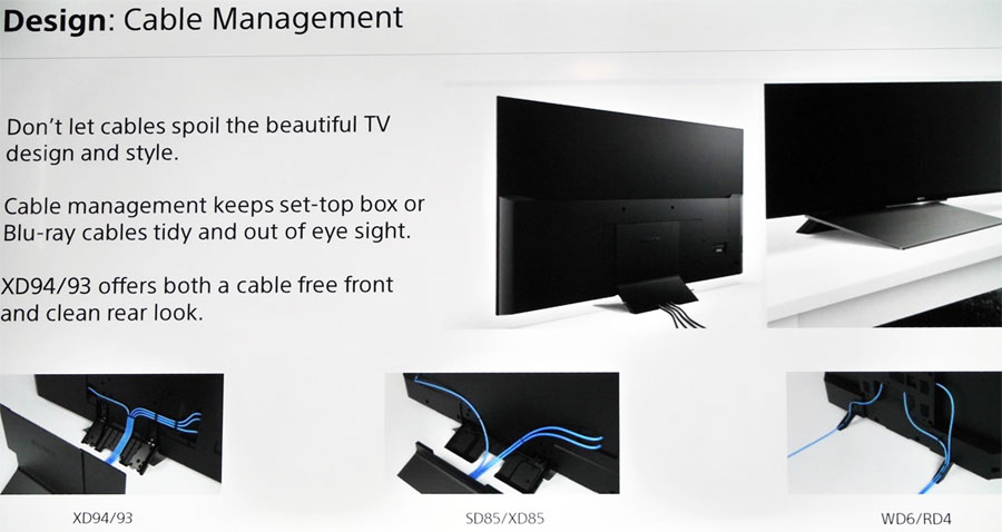 Sony 2016 cable management