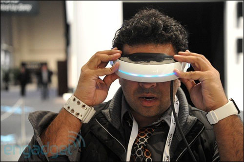 Sony 3D head-mount, Source: Engadget