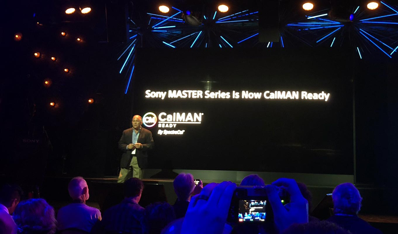 Sony 2018 Master series TVs will support CalMAN AutoCal