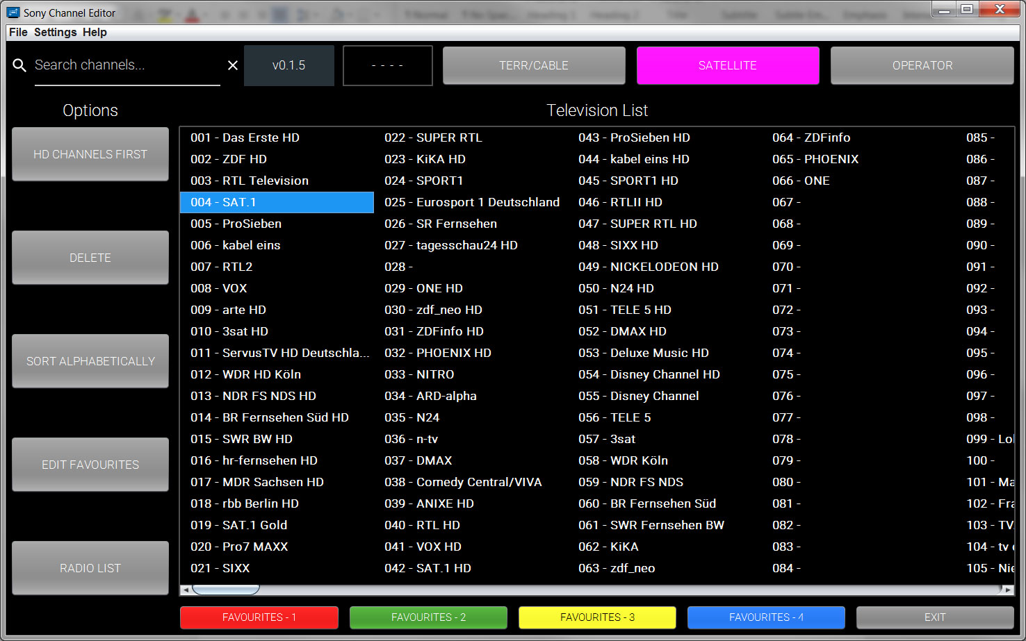 Sony releases tool to edit your TV channel list via a PC - FlatpanelsHD