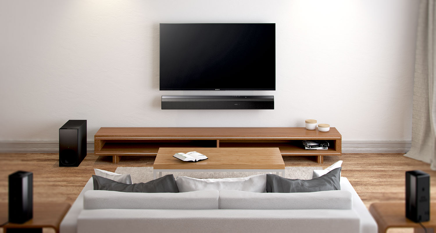 Sony Unveils Soundbar With Wireless Rear Speakers