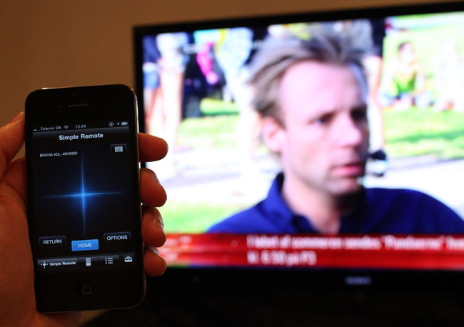 Sony�s smartphone App controls the TV with Apple and Android devices
