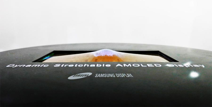 Stretchable OLED display