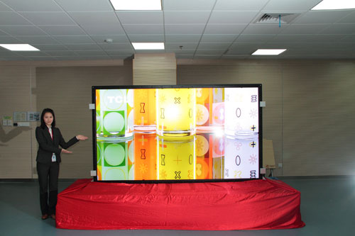 Chinese TCL exhibits 110-inch 4K LCD-TV