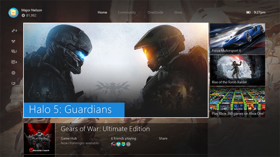 New Xbox One user interface